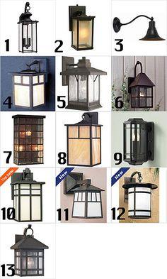 Craftsman style exterior lights