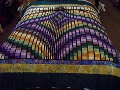 Rhapsody Song Amish #Quilt -- looks like #bargello to me