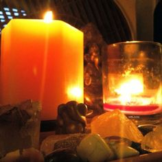 Candles, cinnamon incense, crystals and Ganesha  #ganesha #with_luvey