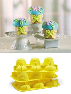 Flower Basket Silicone Cupcake Molds