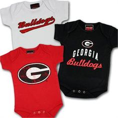 Georgia Bulldogs Baby Outfit