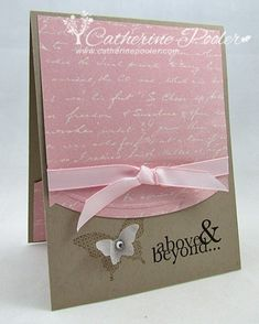 I love the Papillion Potpourri stamp set!  Video to go with this... http://catherinepooler.com/2013/04/kiss-card-papillion-potpourri-vellum-butterfly/
