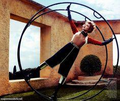 model, michael fassbender, craig mcdean, natalia vodianova, fashion art, modern time, grace coddington, vogue magazine, art deco