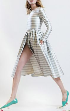 sleeves and stripes! a la Katie Ermilio SS15