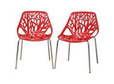 2 Birch Sapling Plastic Chair