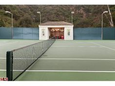 Sharon Stone's tennis courts- I dream of having my own court someday more than a pool. www.trulia.com