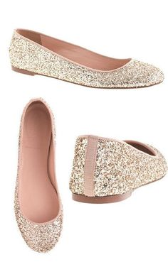 J.Crew Glitter Ballet Flats - add a little sparkle for the holidays or just to dress up a great pair of jeans!