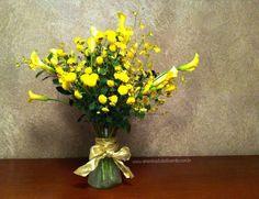 Arranjo de Flores criado pela Nô Figueiredo - A Menina do Dedo Verde www.ameninadodedoverde.com.br