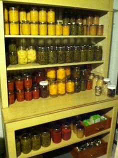 Canning cabinet