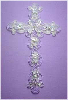 Another beautiful cross           paper quilling patterns free | Free Paper Quilling Patterns | Patterns Gallery