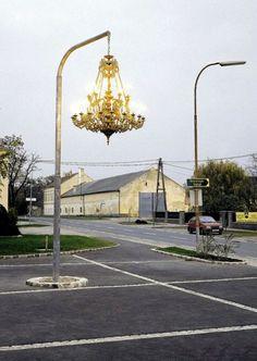 street Chandelier by Austrian artist Werner Reiterer.