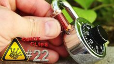 """QC#22 - Pop-Can Lock Picking  A soda can is used to open a padlock.  """"Quick Clips"""" are clips of random experiments in a minute or less.  For other project videos, check out http://www.thekingofrandom.com"""