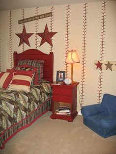 bedroom walls, star, wall treatments, boy rooms, stitch, sport, themed rooms, little boys, golf theme