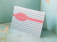 ZigZag Personalized Stationery - Chevron Personalized Stationary Set of 12
