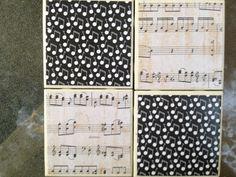 Music Notes Ceramic Tile Coaster
