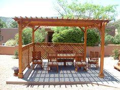 Garden Pergola - Garden Pergolas   Forever Redwood