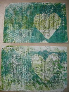 All of Me: Printing playday. Lots of people seem to be doing monoprinting using Gelli Plates. I wanted to have a go so made my own gelatine plate for a day of printing.