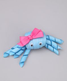 Look at this Bubbly Bows Blue Crab Hair Clip on #zulily today!