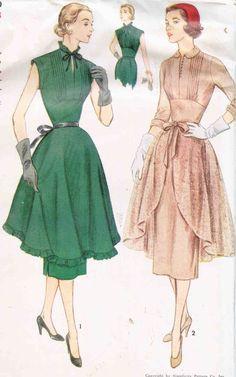 Vintage 1950's Jr Misses' Dress With by CottageLaneTreasures,