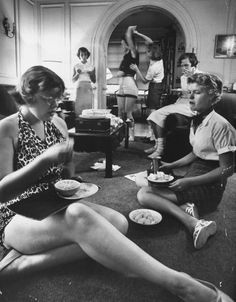 Students having some downtime, 1956. Photo by Hank Walker