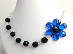 Blue Anemone Necklace