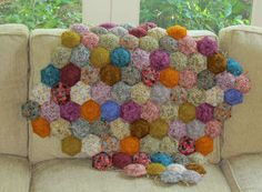 crochet hexipuffs with link to free pattern