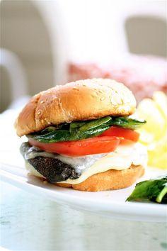 Balsamic portobello burger. Love these for a healthier burger.
