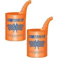 Personalized NASCAR racing gas can wedding favors for themed weddings