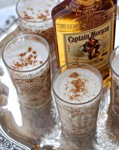 Milk Punch with Captain Morgan's Rum
