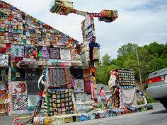 artists take over an abandoned petrol station