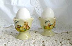 Vintage Easter Egg Cups Egg Cups Cottage by WeeLambieVintage, $14.00