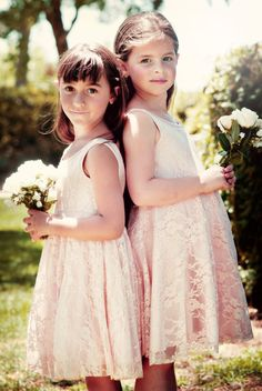 Blush Lace Flower Girl Dress by Bubale1 on Etsy, $99.95Another possible if Kayla is a jr. bridesmaid?