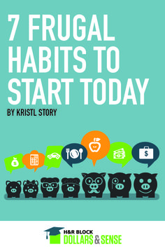 7 Frugal Habits to Start Today by Kristl Story of The Budget Diet #saving #budgeting