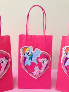 My Little Pony Party Favors/Treat Bags by LittleArtistShop on Etsy