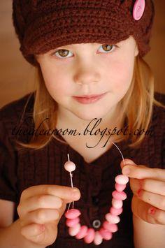 Jelly bean bracelets - fun craft & treat for tea party