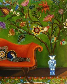 """Sleep Study"" by Catherine Nolin. Acrylics on canvas, 2011."