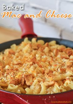 Baked Mac and Cheese Recipe #PastaFits #MC #sponsored #inspireothers