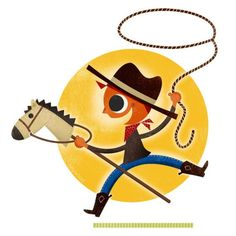 Playing Cowboy illustration