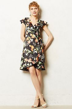 Hibiscus Wrap Dress #anthropologie #anthrofave