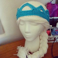 *Creative Crochet products*: Crochet Snow Queen Hat with Crown Pattern child size/ young adult size