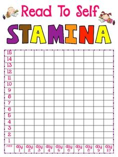 Reading Stamina Poster Freebie - Teacher's Toolkit - TeachersPayTeachers.com