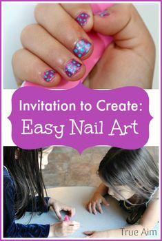 easy nail art for ki