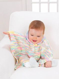 Perfect for active little ones, Baby's Hooded Poncho offers her comfort and warmth without holding her back.