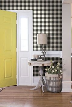buffalo check walls farm style - fun for the little bathroom (not black and white)