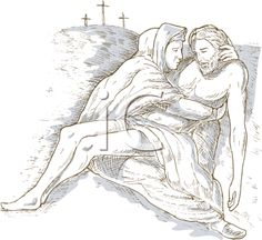 iCLIPART - Royalty Free Clip Art Image of Mary and Jesus Christ