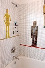 diy and instructables Emily Jagoda - Star Wars bathroom tile