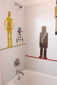 diy and instructables Emily Jagoda - Star Wars bathroom tile