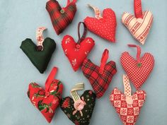 10 x Christmas scented hearts £9.99