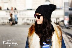 Classic black sunglasses are always the right choice. Seen during London Fashion Week. #ShadesOfFashionWeek #sunglasses