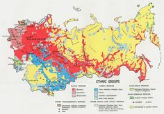 Ethnic groups of the #soviet union, 1974 #map #ussr